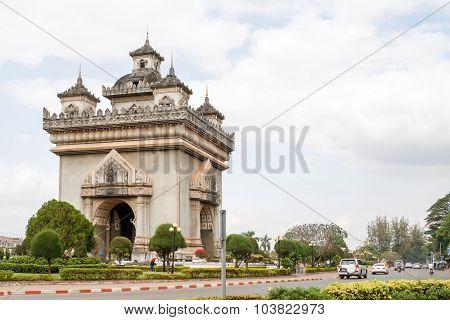 Patuxai Vientiane, Laos