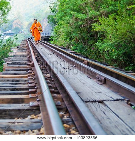 Monks Walk On The Death Railway