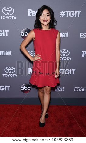 LOS ANGELES - SEP 26:  Amy Okuda arrives to the TGIT Premiere Red Carpet Event  on September 26, 2015 in Hollywood, CA.