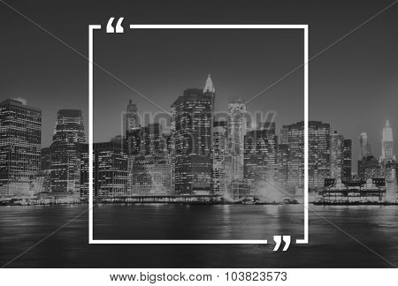 Quotation Marks Frame Message Copy Space Concept