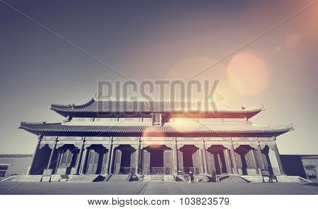 Majestic Forbidden City Beijing China Ancient Temple Concept
