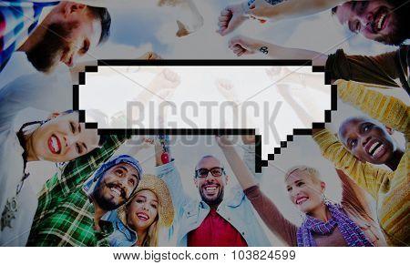 Speech Bubble Message Announce Communicate Chat Concept