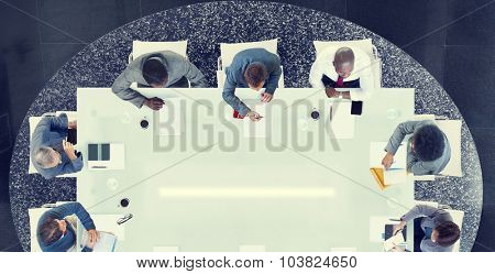 Group of Business People Having a Meeting Concept