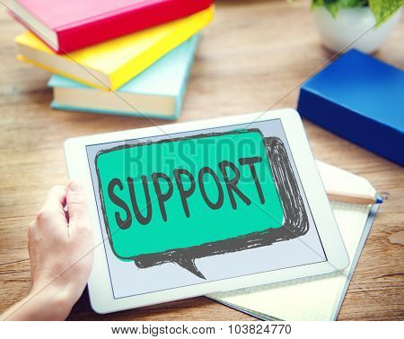 Support Assistance Aid Community Motivation Team Concept