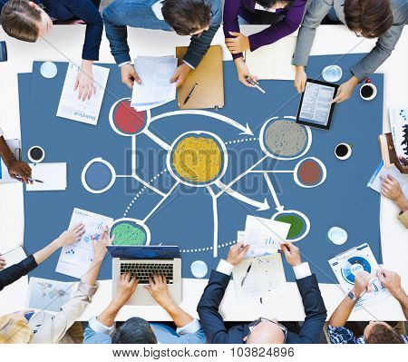 Connection Global Communications Corporate Networking Concept