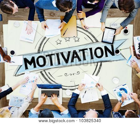 Motivation Inspiration Motivate Trust Inspire Concept