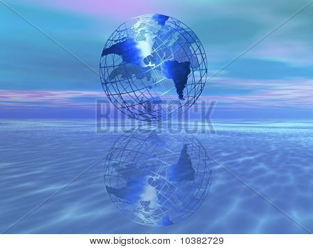 Globe Over Water