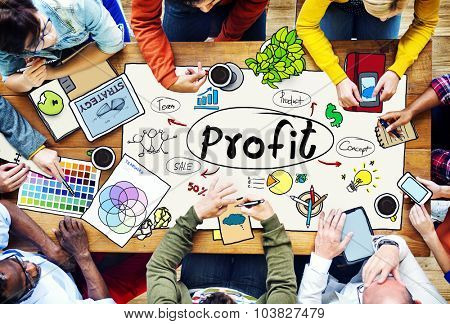 Profit Revenue Budget Finance Income Sales Money Concept