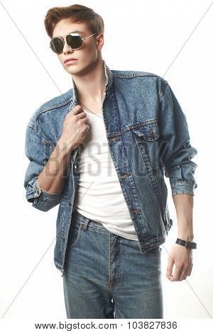 Fashion portrait of the young man