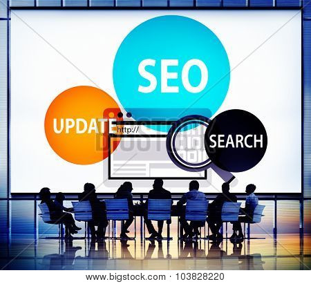 Search Engine Optimization Technology Concept