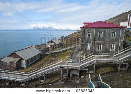 Stairway From The Port In Barentsburg, Svalbard