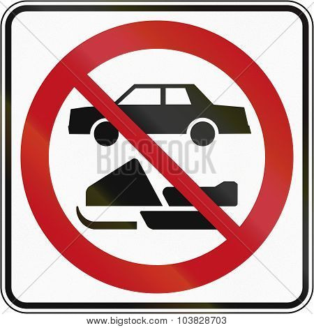 No Snowmobiles And Cars In Canada