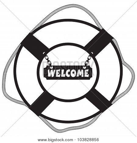 Symbol Life Buoy Welcome
