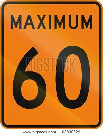 Temporary Maximum Speed 60 Kmh In Canada