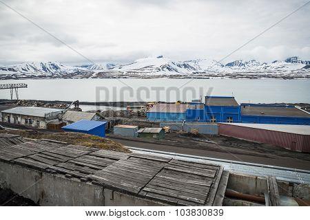 Heavy Industry In Barentsburg, Russian Settlement In Svalbard