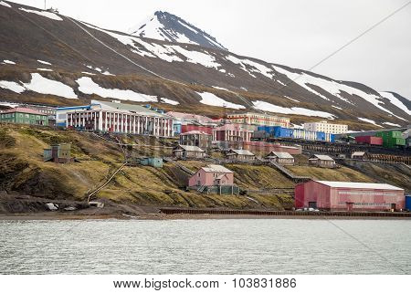 Barentsburg, Russian Settlement In Svalbard, Norway