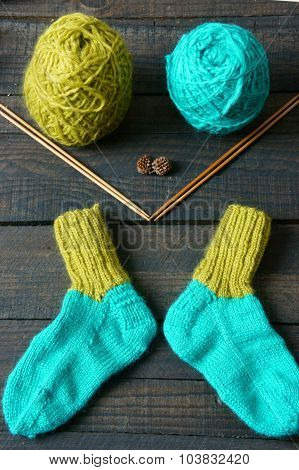 Socks, Stockings, Winter, Knit, Handmade