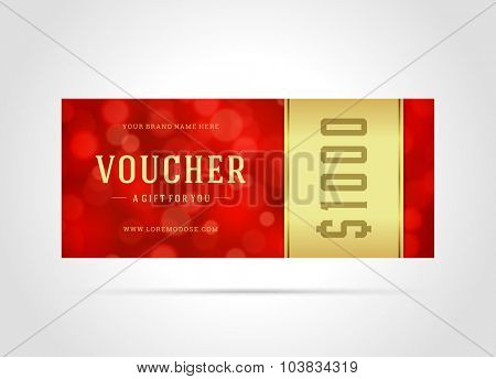 Voucher template abstract lght design vector illustration