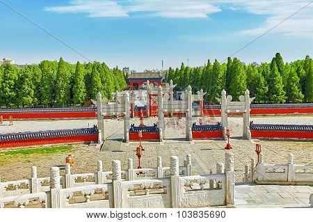 Circular Mound Altar In The Complex Temple Of Heaven In Beijing.