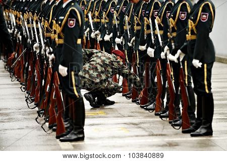 Slovenia Military Guard Of Honor