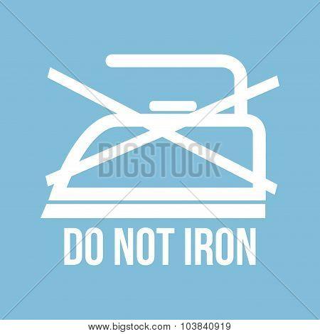 Ironing instructions