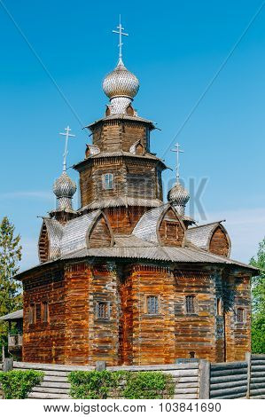 Church of Transfiguration in Old Russian Town of  Suzdal, Russia