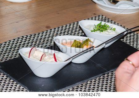 Three Yoghurt Dips