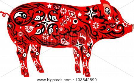 Pig with a pattern