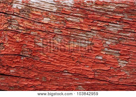 Old Red Wooden Board Background Texture