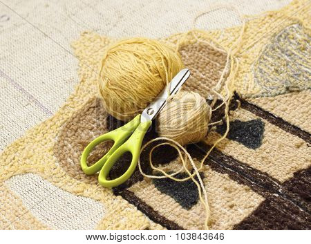 Knitting With Yarn