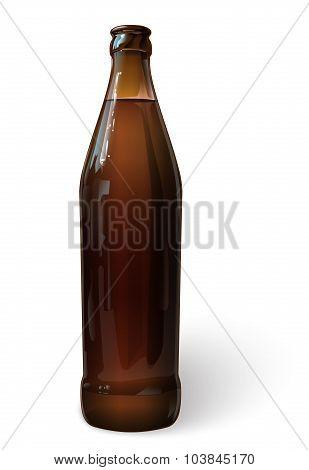 Beer in a bottle, vector