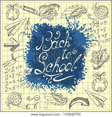 Hand-drawn back to school sketchy.