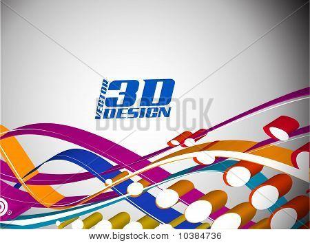 3D Halftone Colorful