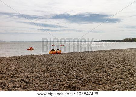 Kayak In Nicaragua Lake, View From Ometepe Island