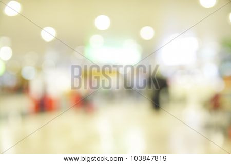 Hall of airport out of focus - defocused abstract background