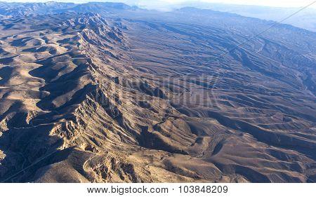 Aerial View Of Mojave Desert, Arizona, Usa
