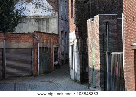 Garage Doors And A Small Alley