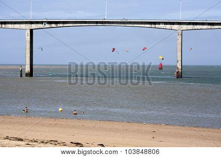 Bridge Near The Beach