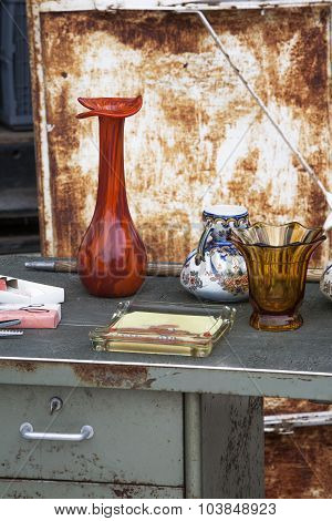 Old Vases at a Jumble Sale