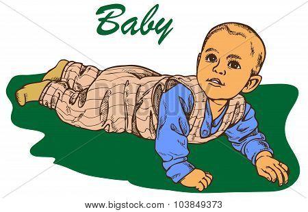 The Baby Crawls