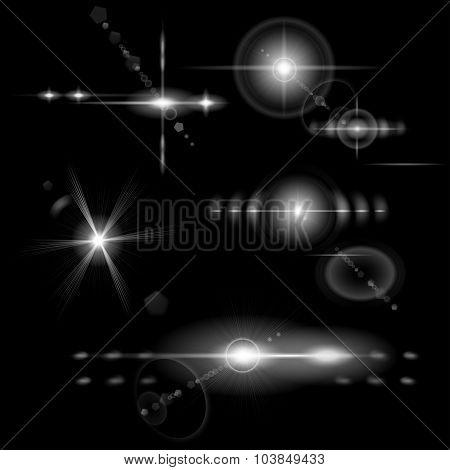 Transparent Monochrome Lens Flares