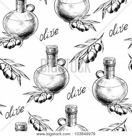 Olive oil bottle pattern