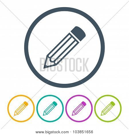 Set Pencils Icons Isolated On White Background. Stock Vector Illustration Eps10
