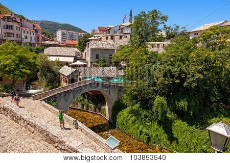 Stone Bridge In Mostar