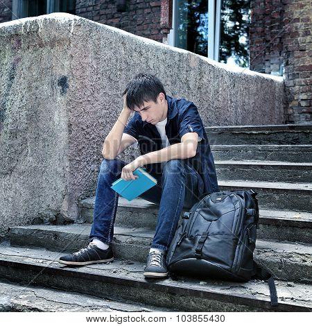 Sad Student Outdoor