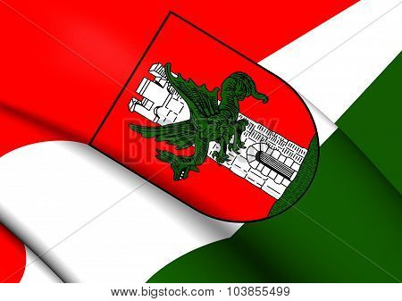 Flag Of Klagenfurt Am Worthersee City (carinthia), Austria.
