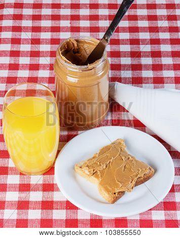 Sandwich With Peanut Butter