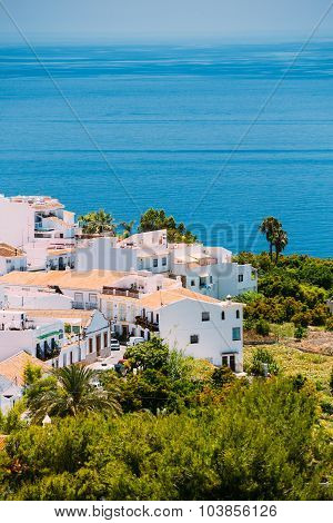 Houses in Nerja, Malaga Province, Andalusia, Spain