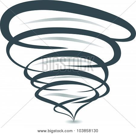 Twister Symbol Vector Sign Of Tornado Spiral