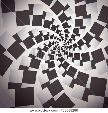 Vortex Black And White Design Background Vector